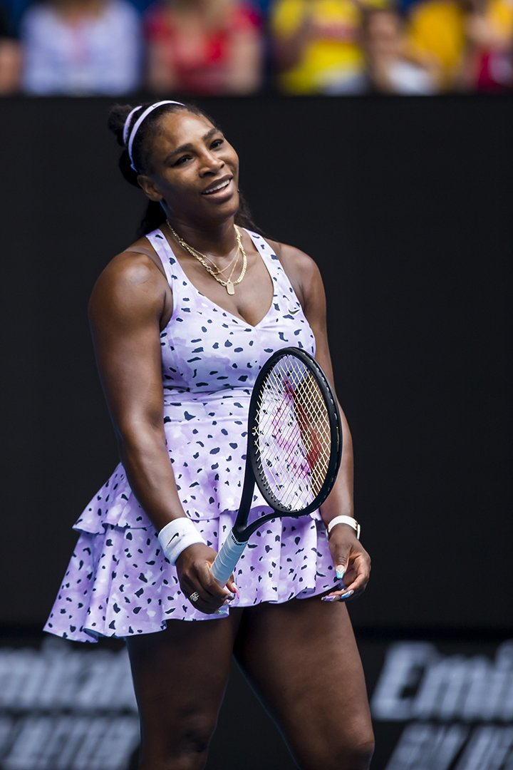 Serena Williams at the 2020 Australian Open at Melbourne Park on January 22, 2020. | Photo: Getty Images