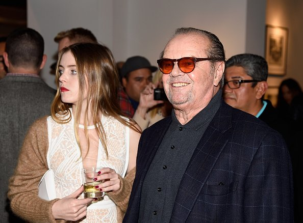 "Actors Lorraine Nicholson (L) and Jack Nicholson attend TASCHEN And David Bailey Celebrate ""It's Just A Shot Away: The Rolling Stones In Photographs"" at the TASCHEN Gallery on December 13, 2014, in Los Angeles, California. 