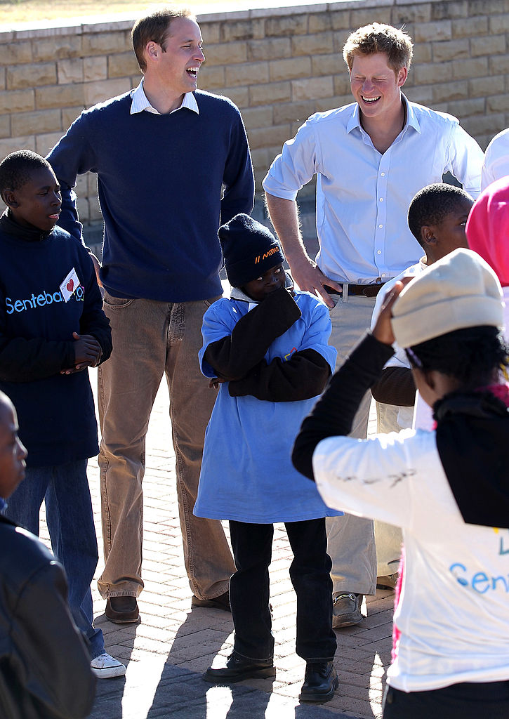 Image Credits: Getty Images/ Princes William and Harry in Maseru, Lesotho.