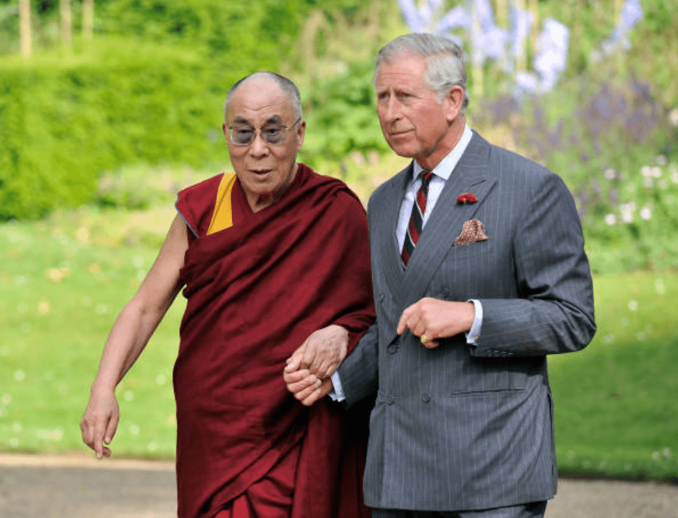 Prince Charles welcomes the Dalai Lama at Clarence House,  on June 20, 2012, in London | Source: Getty Images