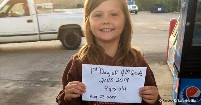 9-year-old girl tragically died minutes after taking a picture on her first day of school