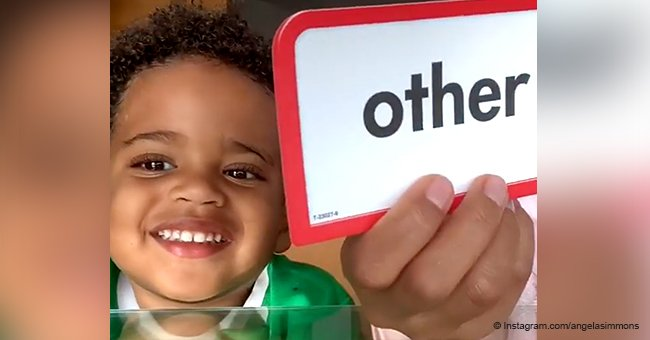 Angela Simmons' 2-year-old son shows off his growing vocabulary, has the internet fawning over him