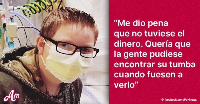 Niño de 12 años trabajó para juntar dinero para la lápida de su mejor amigo que falleció de cáncer
