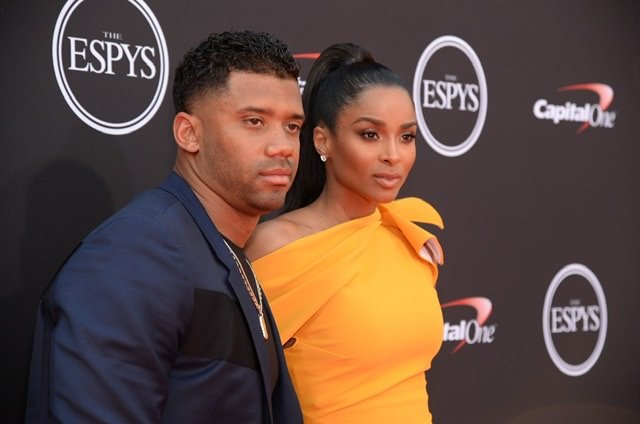 Russell Wilson and Ciara attend the 2018 ESPY Awards at Microsoft Theater on July 18, 2018 | Source: Getty Images/GlobalImagesUkraine