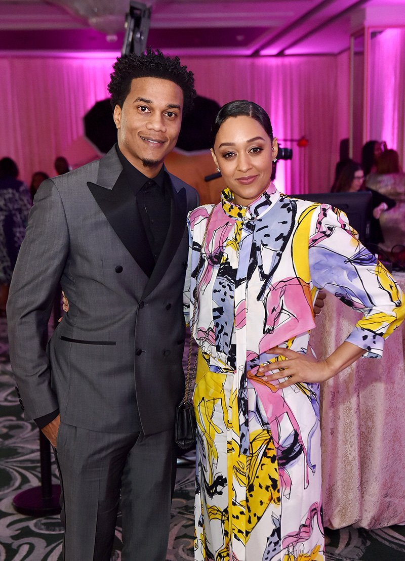 Cory Hardrict and Tia Mowry-Hardrict attend the 2020 13th Annual ESSENCE Black Women in Hollywood Luncheon at Beverly Wilshire, A Four Seasons Hotel on February 06, 2020 in Beverly Hills, California. I Image: Getty Images.