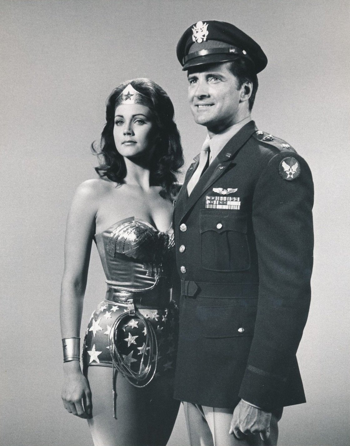 "Lynda Carter and Lyle Waggoner star in ""Fausta: The Nazi Wonder Woman"" circa 1976. 