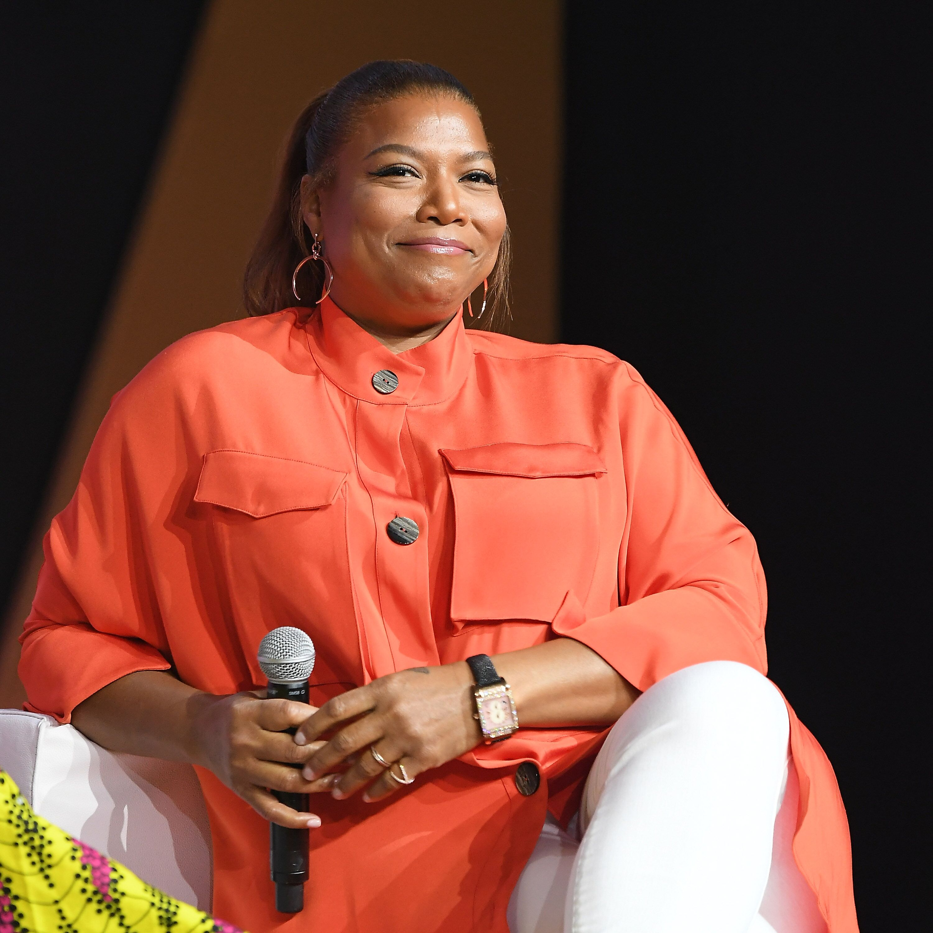Queen Latifah speaks onstage during the 2018 Essence Festival presented by Coca-Cola at Ernest N. Morial Convention Center on July 6, 2018   Photo: Getty Images