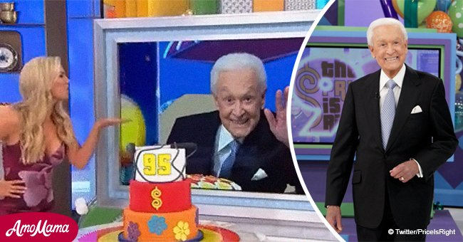 Bob Barker looks healthy celebrating 95th birthday with a cake from 'The Price is Right' team