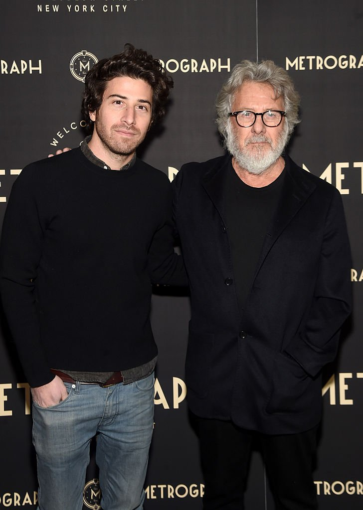 Jake Hoffman and Dustin Hoffman attend the Metrograph opening night at Metrograph  | Getty Images / Global Images Ukraine