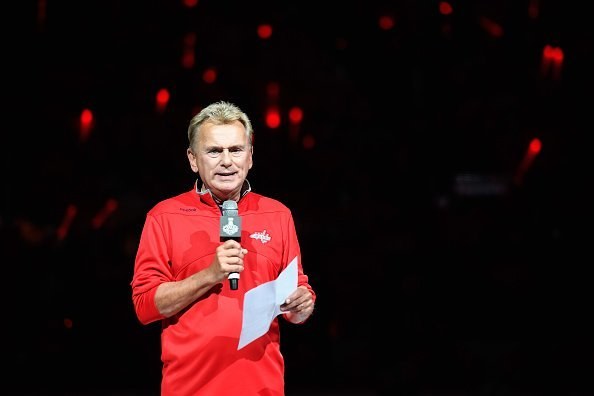 Pat Sajak makes the team introductions before Game Three of the 2018 on June 2, 2018 | Photo| Getty Images
