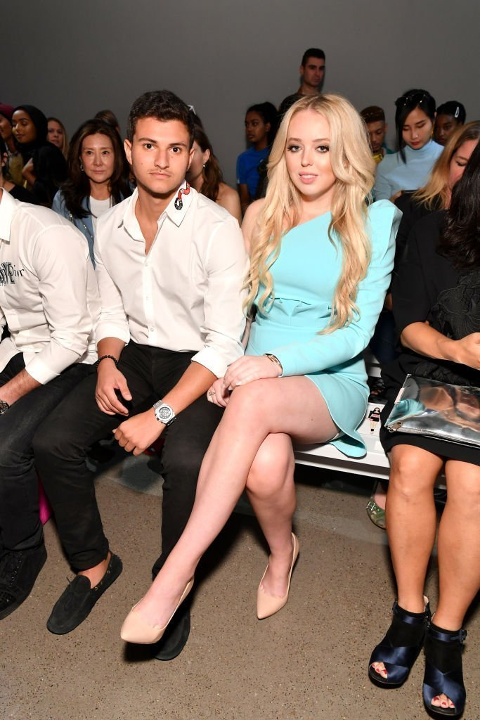 Tiffany Trump and Michael Boulos at the Taoray Wang Fashion show in New York City on September 8, 2018 | Source: Getty Images