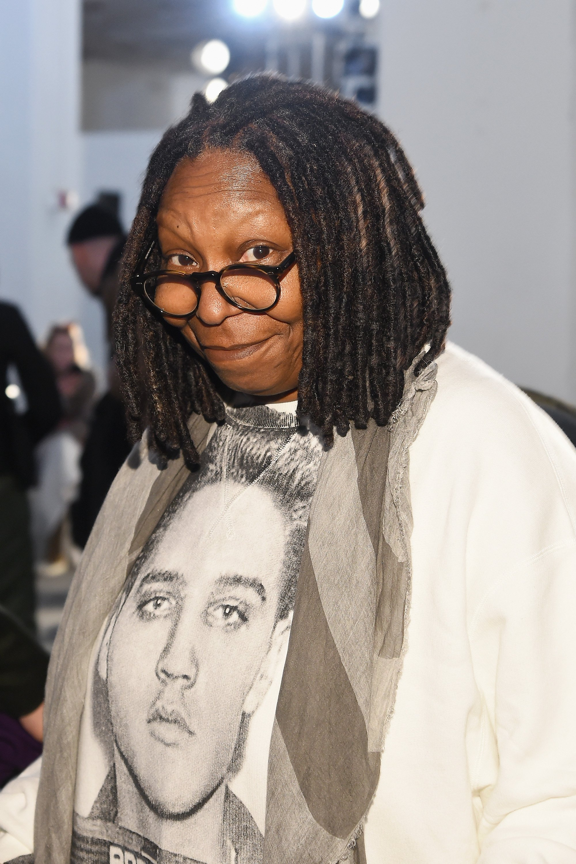Actress Whoopi Goldberg at the R13 fashion show during New York Fashion Week on February 10, 2018.   Photo: Getty Images