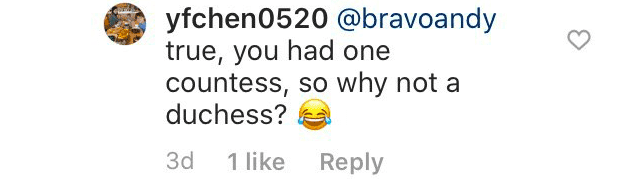 Fan comment in responde to Andy Cohen's comment | Source: Instagram/sussexroyal