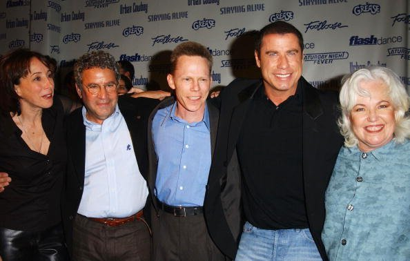 """The cast from the movie """"Grease"""", attends the Celebration of Paramount Studio's 90th Anniversary on September 22, 2002, at Paramount Studios in Los Angeles, California. 