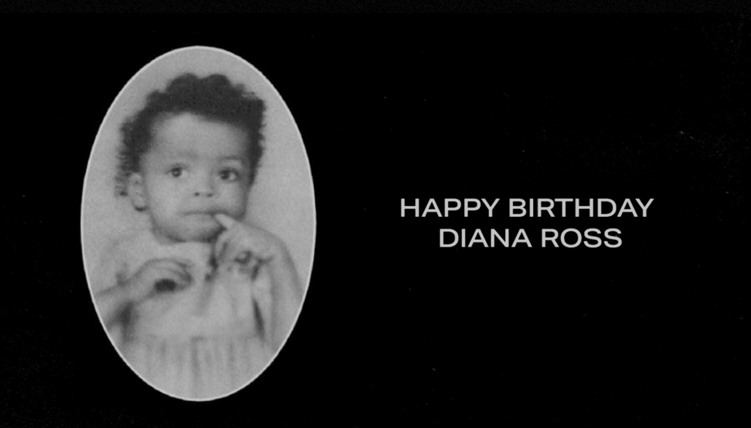 Diana Ross as a baby. | Source: beyonce.com