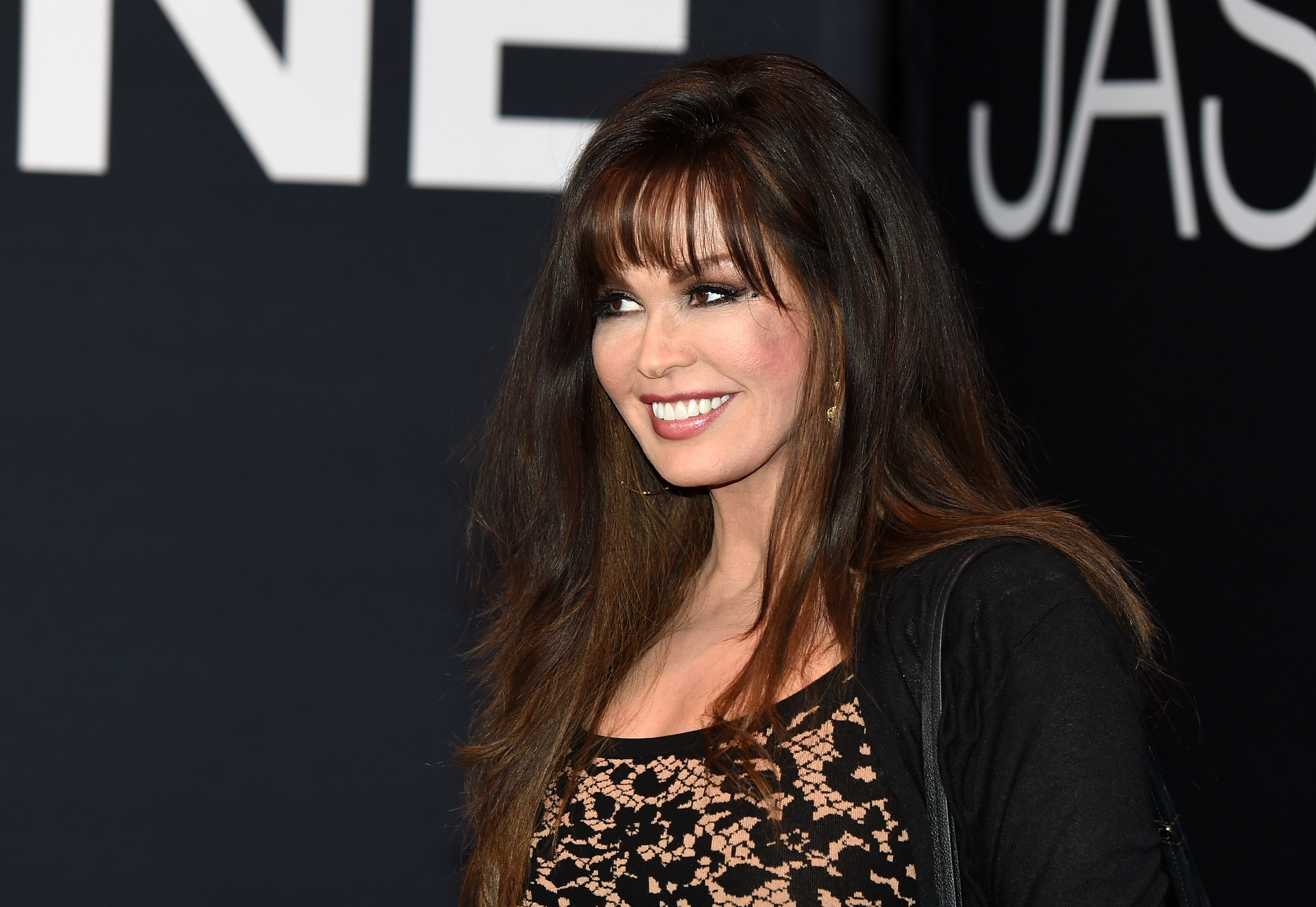 """Marie Osmond pictured attending the premiere of Universal Pictures' """"Jason Bourne"""" at The Colosseum at Caesars Palace, 2016, Las Vegas. 
