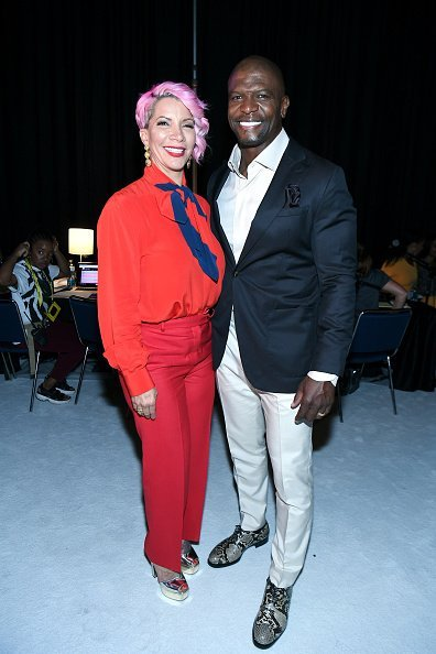 Rebecca King-Crews and Terry Crews backstage during 2019 ESSENCE Festival Presented By Coca-Cola at Ernest N. Morial Convention Center on July 05, 2019, in New Orleans, Louisiana. | Source: Getty Images.