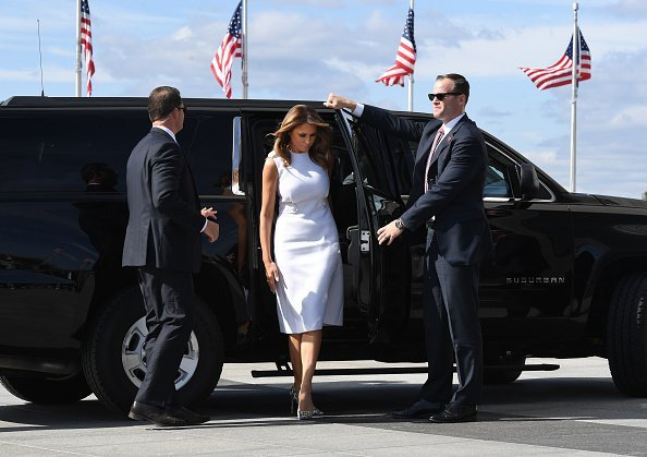 First Lady Melania Trump arrives for a reopening ceremony for the Washington Monument in Washington, DC. | Photo: Getty Images