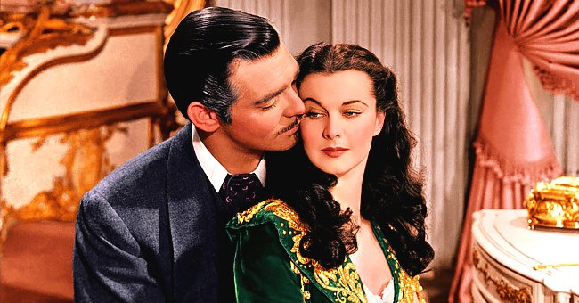 """Screenshot of a scene from """"Gone with the Wind"""" 