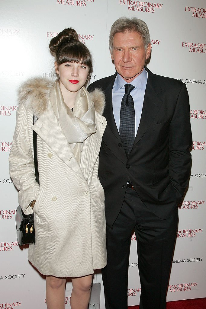 """Georgia Ford and actor Harrison Ford at the Cinema Society with John & Aileen Crowley screening of """"Extraordinary Measures"""" at the School of Visual Arts Theater on January 21, 2010 