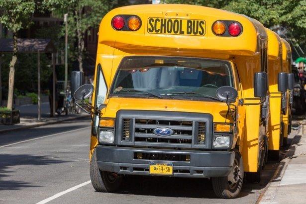Un bus scolaire garé dans une rue. | Photo : PublicDomain Pictures