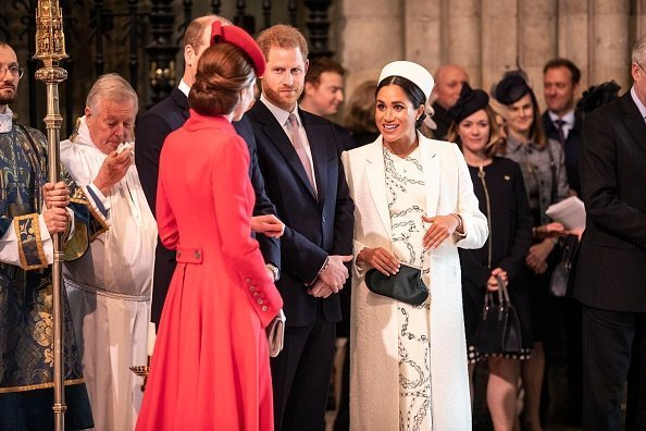 Kate Middleton, Prince William, Prince Harry and Meghan Markle at the 2019 Commonwealth Day service at Westminster Abbey on March 11, 2019 in London, England. | Photo: Getty Images