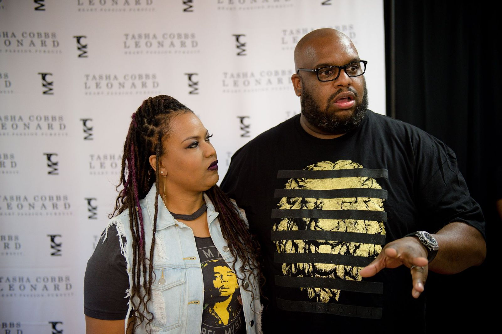 "Aventer Gray and Pastor John Gray at Tasha Cobbs Leonard's ""Heart. Passion. Pursuit."" album release concert on August 25, 2017 