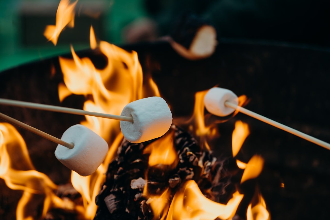 The wife recalled the time when they had bonfire and roasted marshmallows.   Photo: Unsplash/Leon Contreras