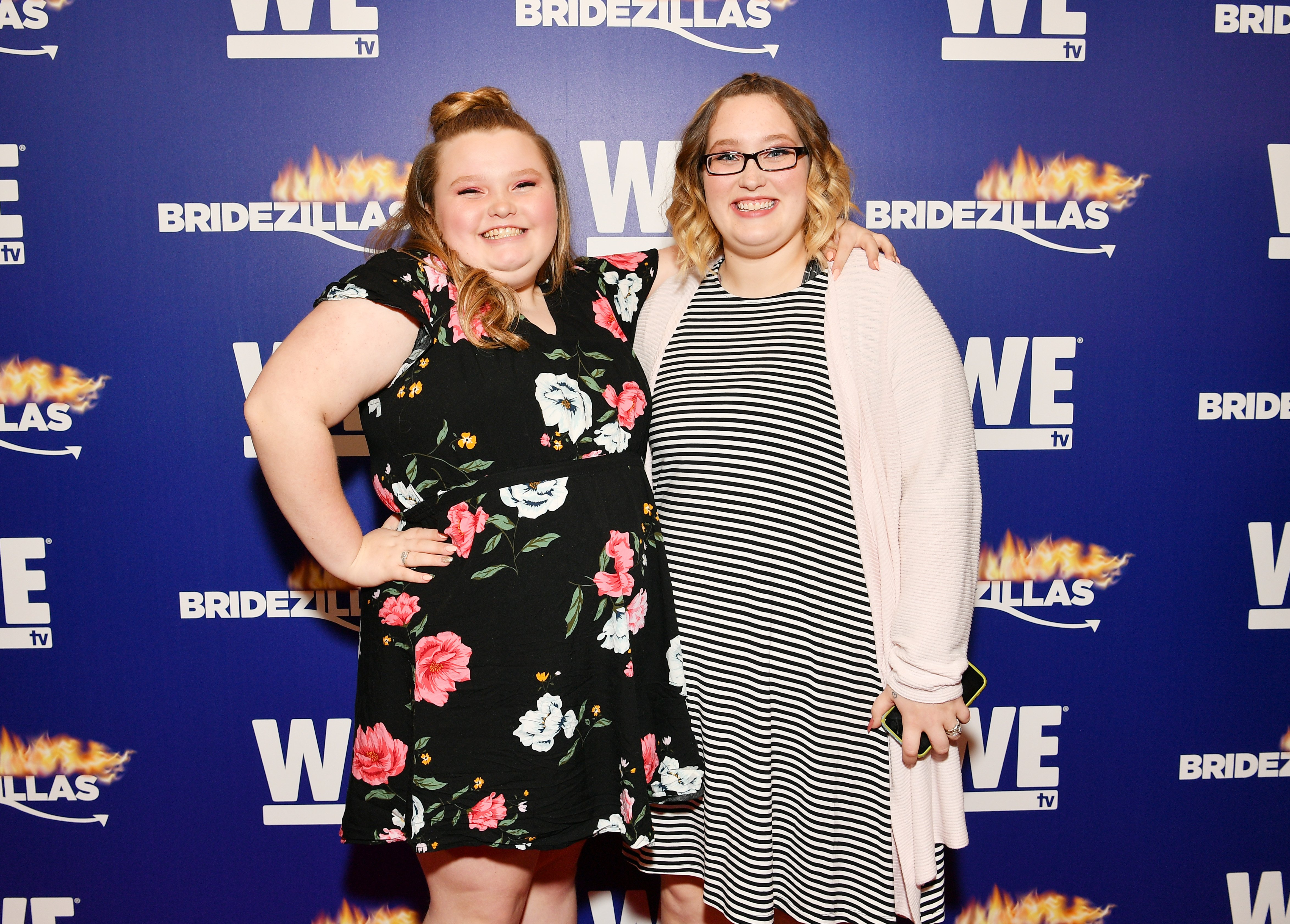 """Alana """"Honey Boo Boo"""" Thompson and Lauryn """"Pumpkin"""" Shannon at WE tv's premiere fashion event celebrating the return of """"Bridezillas,"""" 2019. 