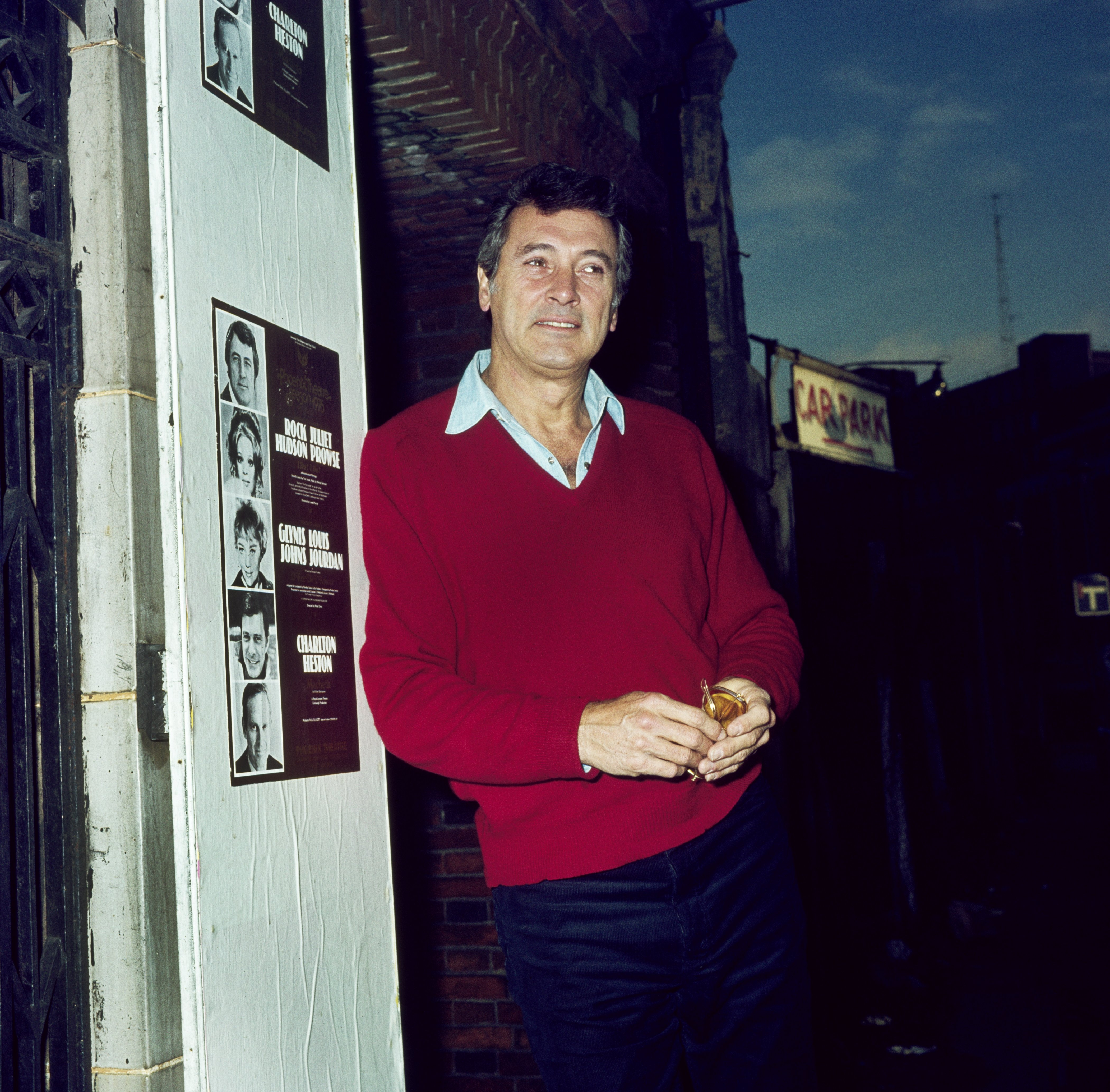 American actor, Rock Hudson, pictured in London's West End during the stage play 'I Do, I Do' circa 1976 | Photo: Getty Images