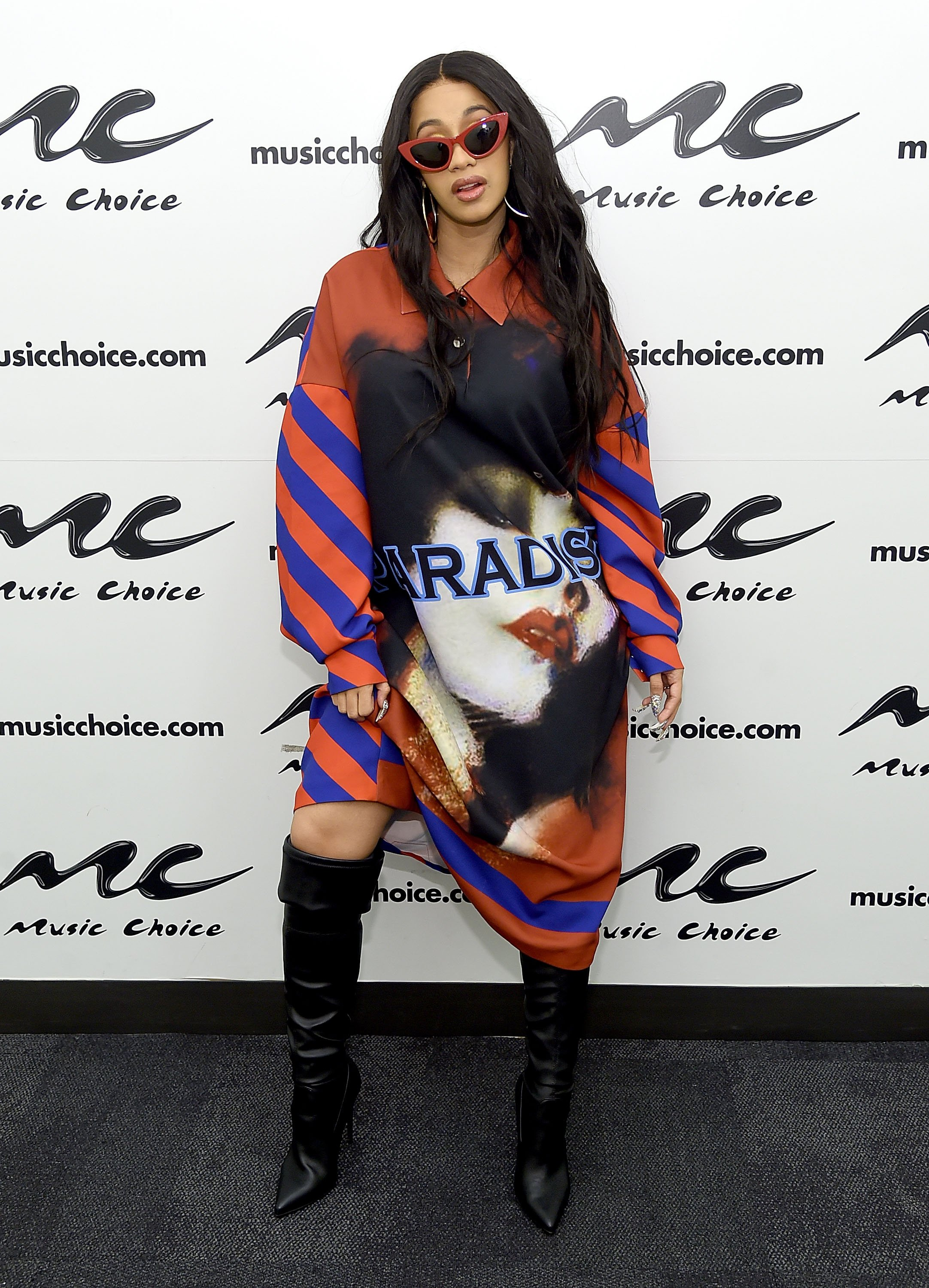 Cardi B visits Music Choice at Music Choice on April 10, 2018 in New York City | Photo: Getty Images
