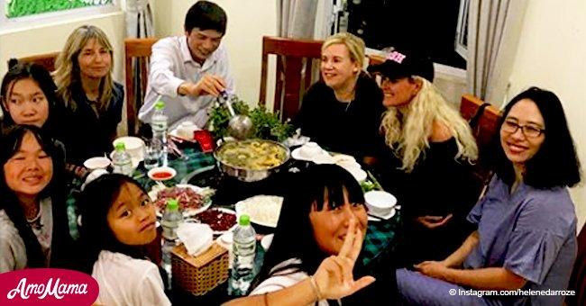 Laeticia Hallyday partage sur Instagram une incroyable vidéo d'une celebration de Noël