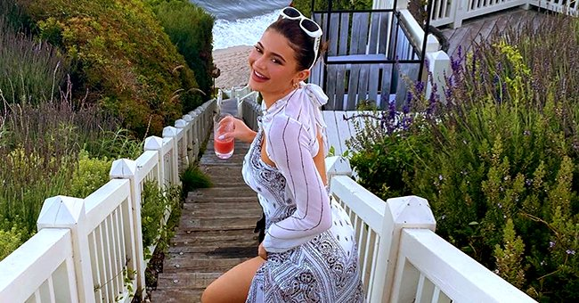 Kylie Jenner Looks Radiant in a White Maxi Dress While Enjoying Time at the Beach