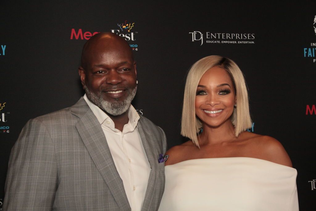 Emmitt Smith and Pat Smith attend MegaFest 2017 International Faith & Family Film Festival at Omni Hotel on June 30, 2017   Photo: Getty Images