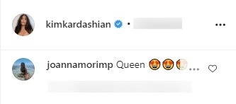 A fan's comment on Kim Kardashian's picture of her flaunting her ponytail.   Photo:  Instagram/Kimkardashian
