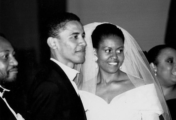 Michelle and Barack Obama on their wedding day/ Source: Courtesy of the Obama/ Robinson Archive