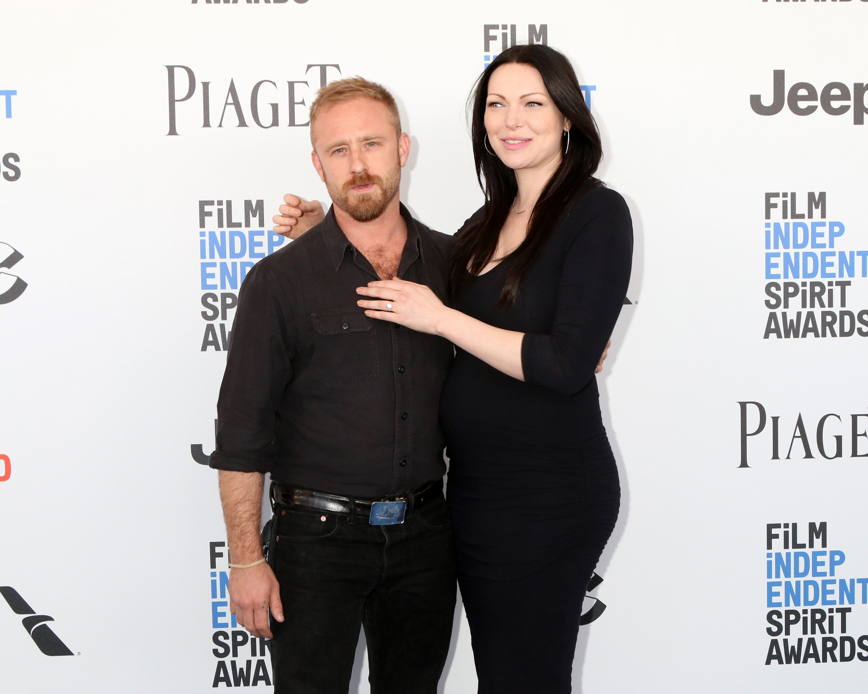 Ben Foster and Laura Prepon arrive at the Independent Spirit Awards on February 25, 2017. | Photo: Shutterstock