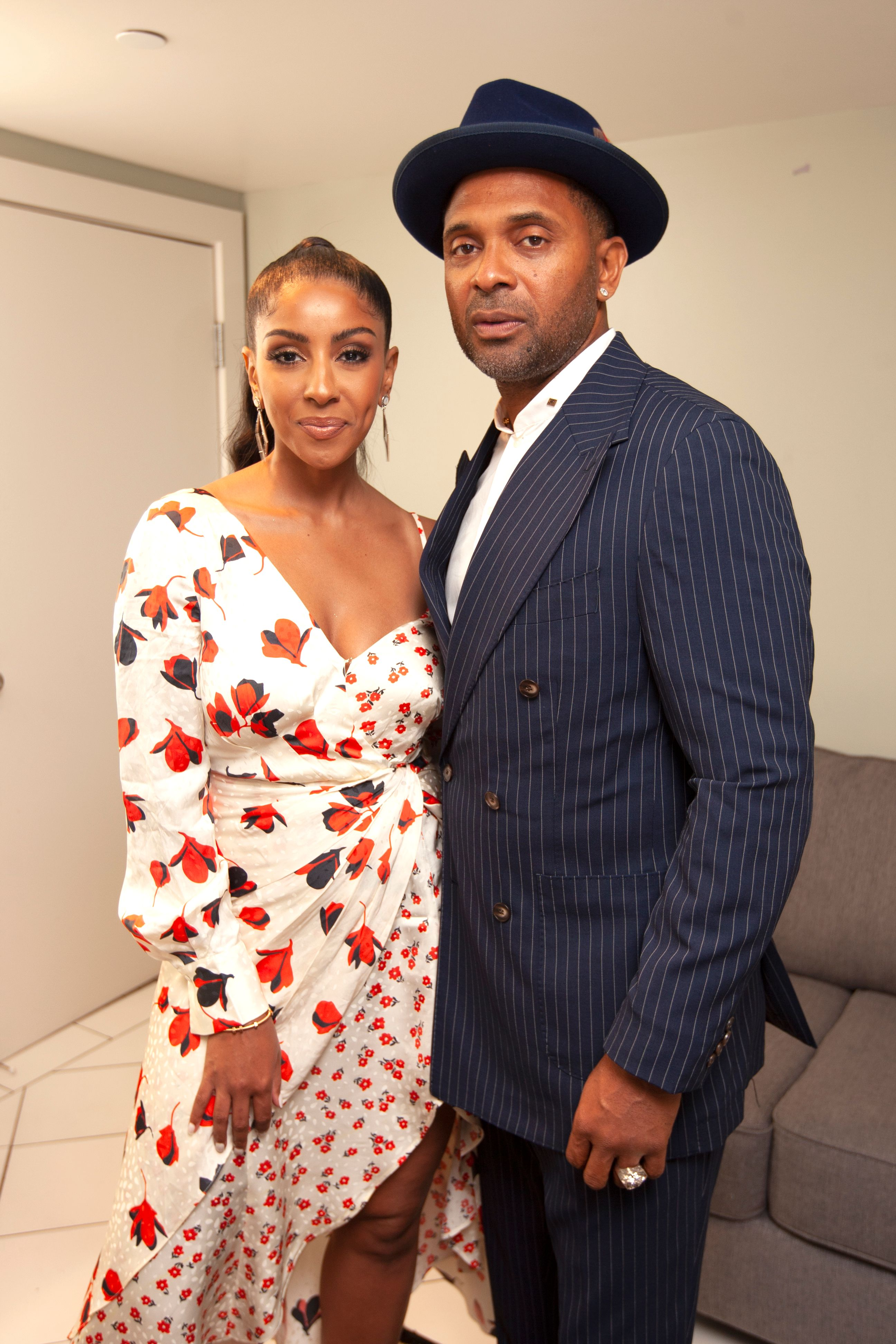 """Mike Epps and Kyra Epps during the """"Essence After Dark Friends"""" comedy event at the Orpheum Theater on Saturday July 6, 2019 in New Orleans, Louisiana. 