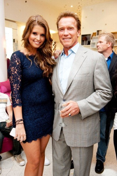 Arnold Schwarzenegger and his daughter Katherine at DVF for Fashion's Night Out in Los Angeles. | Photo: Getty Images.