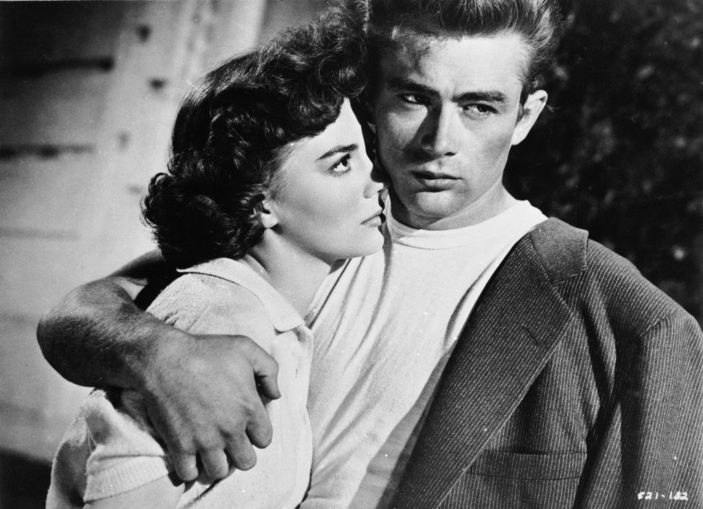 James Dean and Natalie Wood in a scene from 'Rebel Without A Cause' in 1955 | Source: Getty Images