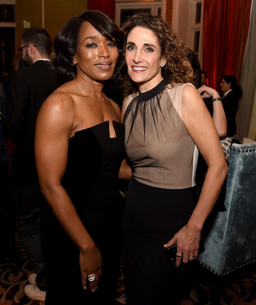 Angela Bassett and Melina Kanakaredes attend the FOX All-Star Party during the 2018 Winter TCA Tour. | Source: Getty Images