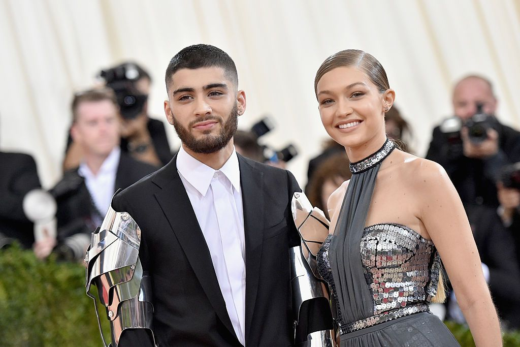 "Zayn Malik and Gigi Hadid at the ""Manus x Machina: Fashion In An Age Of Technology"" Costume Institute Gala on May 2, 2016. 