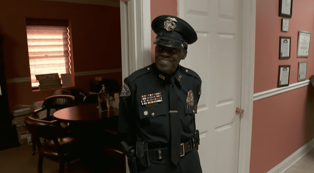 "L.C. ""Buckshot"" Smith, the oldest police officer in Texas, during an interview with CBS that aired on March 10, 2021. 