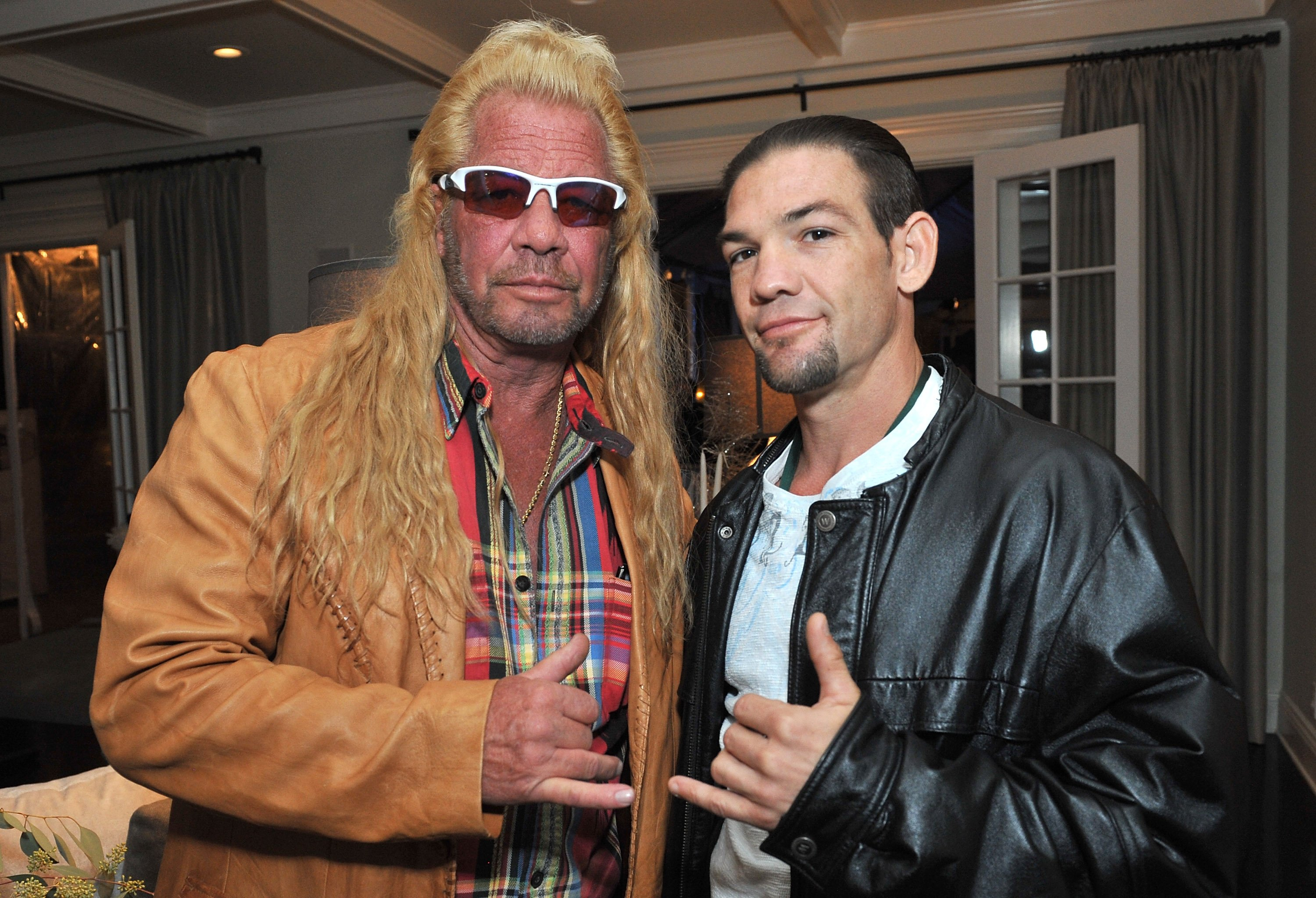Dog Chapman and Leland Chapman attend the 2013 Electus & College Humor Holiday Party at a private residency on December 12, 2013 in Los Angeles.   Source: Getty Images