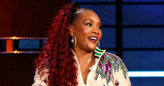 Vivica A Fox Looks Unforgettable in Chic Green Caftan and a Matching Headband