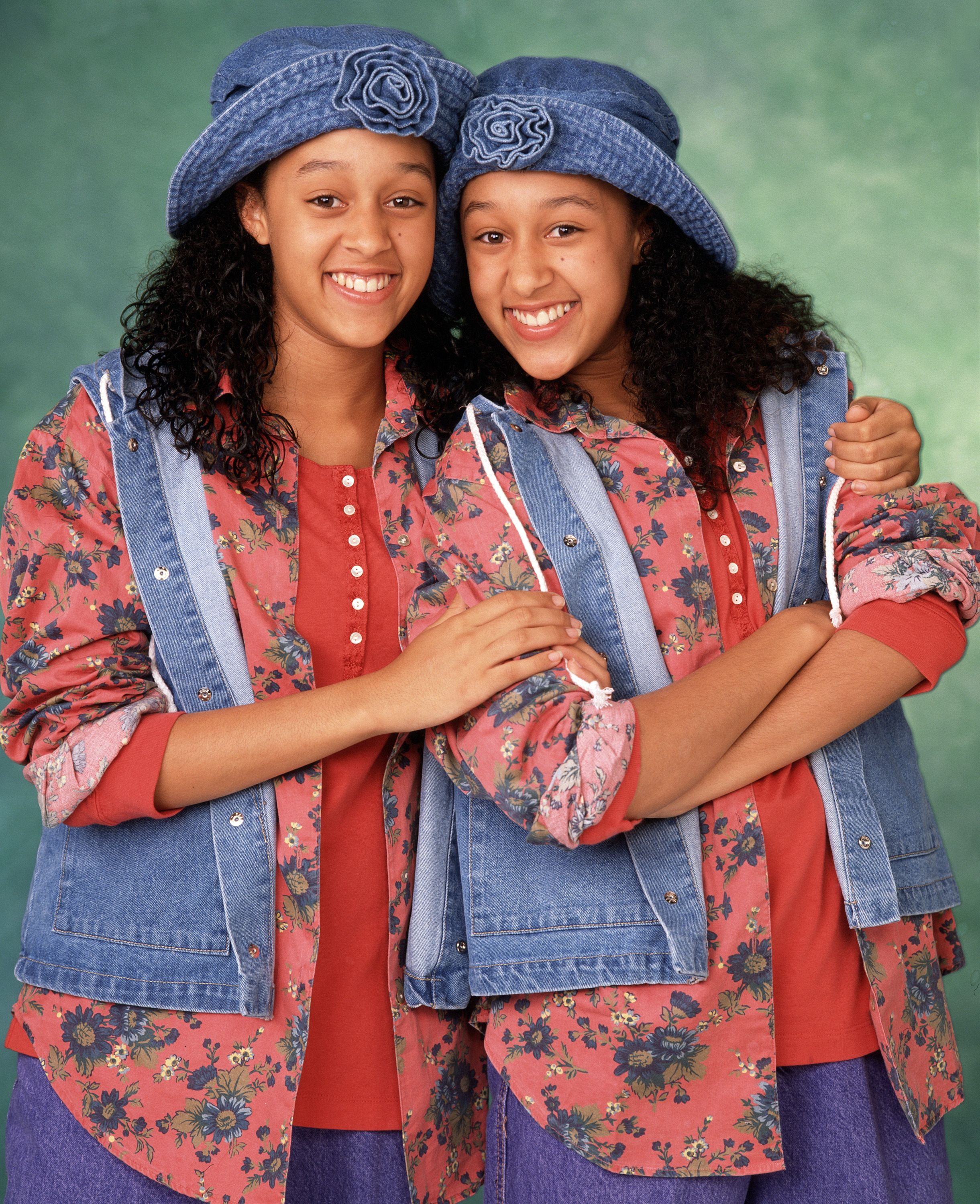 "Tia Mowry and Tamera Mowry on the set of ""Sister Sister"" season one. 