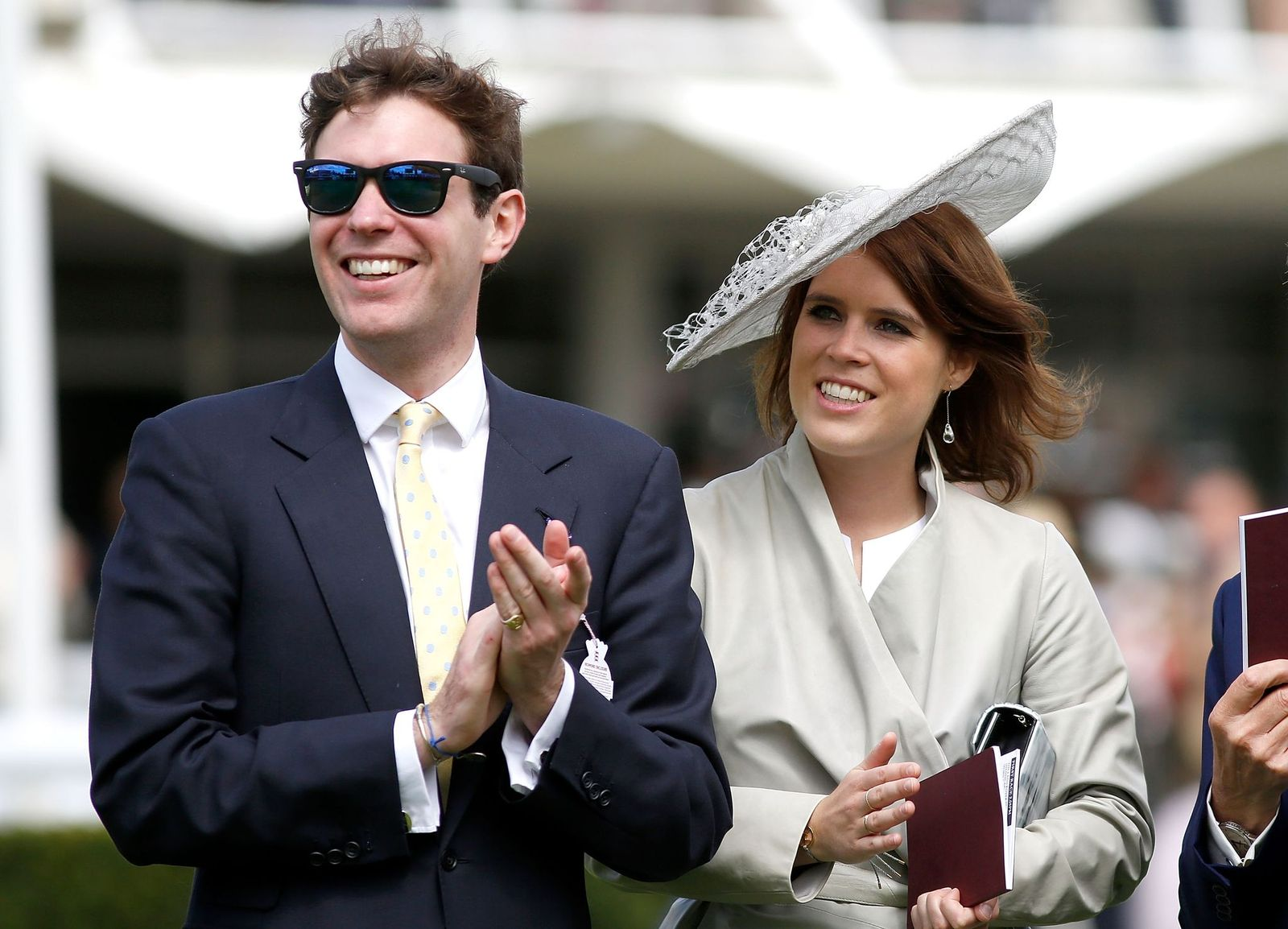 Princess Eugenie and Jack Brooksbank at day three of the Qatar Goodwood Festival at Goodwood Racecourse on July 30, 2015 in Chichester, England. | Photo: Getty Images