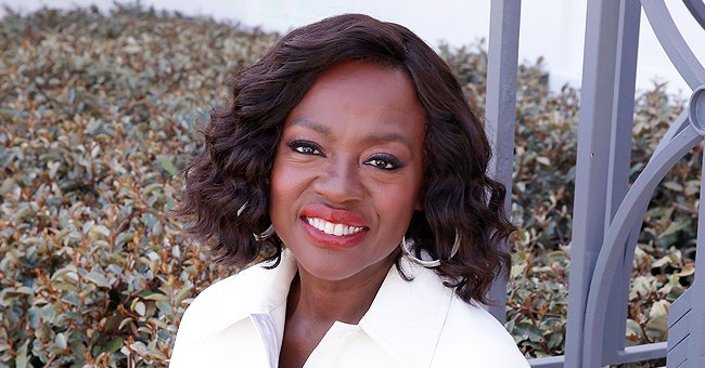 Viola Davis Shines Bright Posing in Photos for the Golden Globes in a Colorful Mermaid Dress