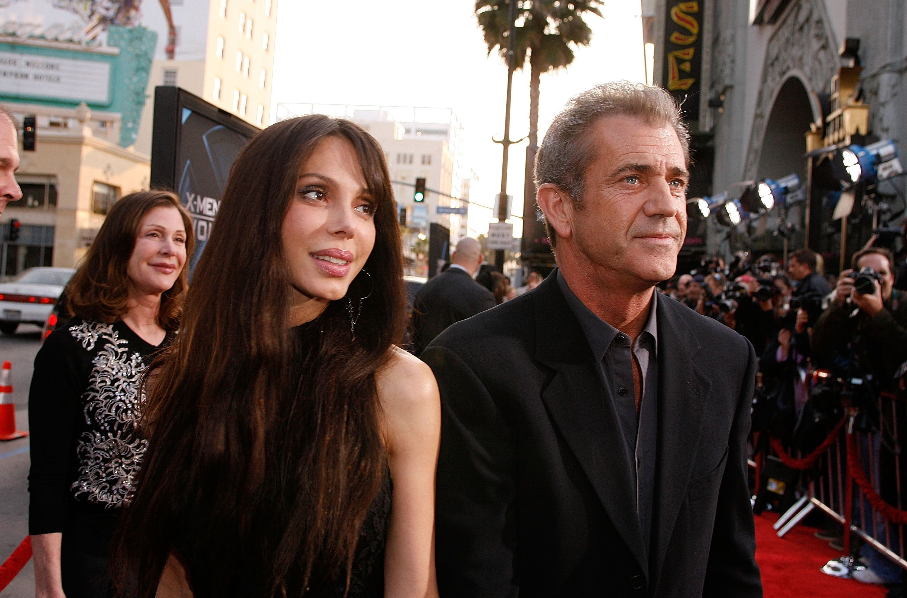 "Oksana Grigorieva and actor Mel Gibson at the screening of ""X-Men Origins: Wolverine"" in 2009 in Hollywood 