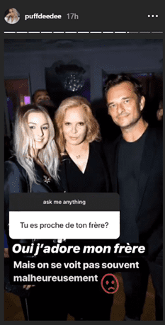 Sylvie Vartan, Darina et David Hallyday | Photo : Instagram